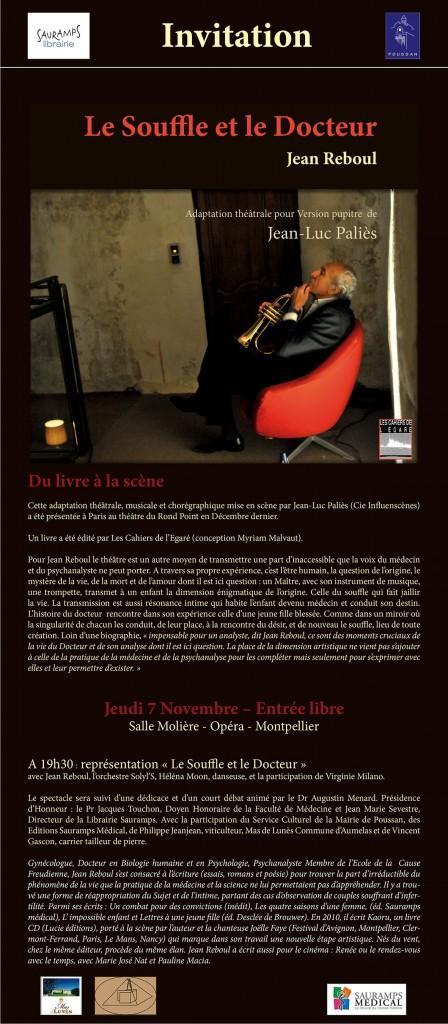 Affiche du spectacle de Jean REBOUL