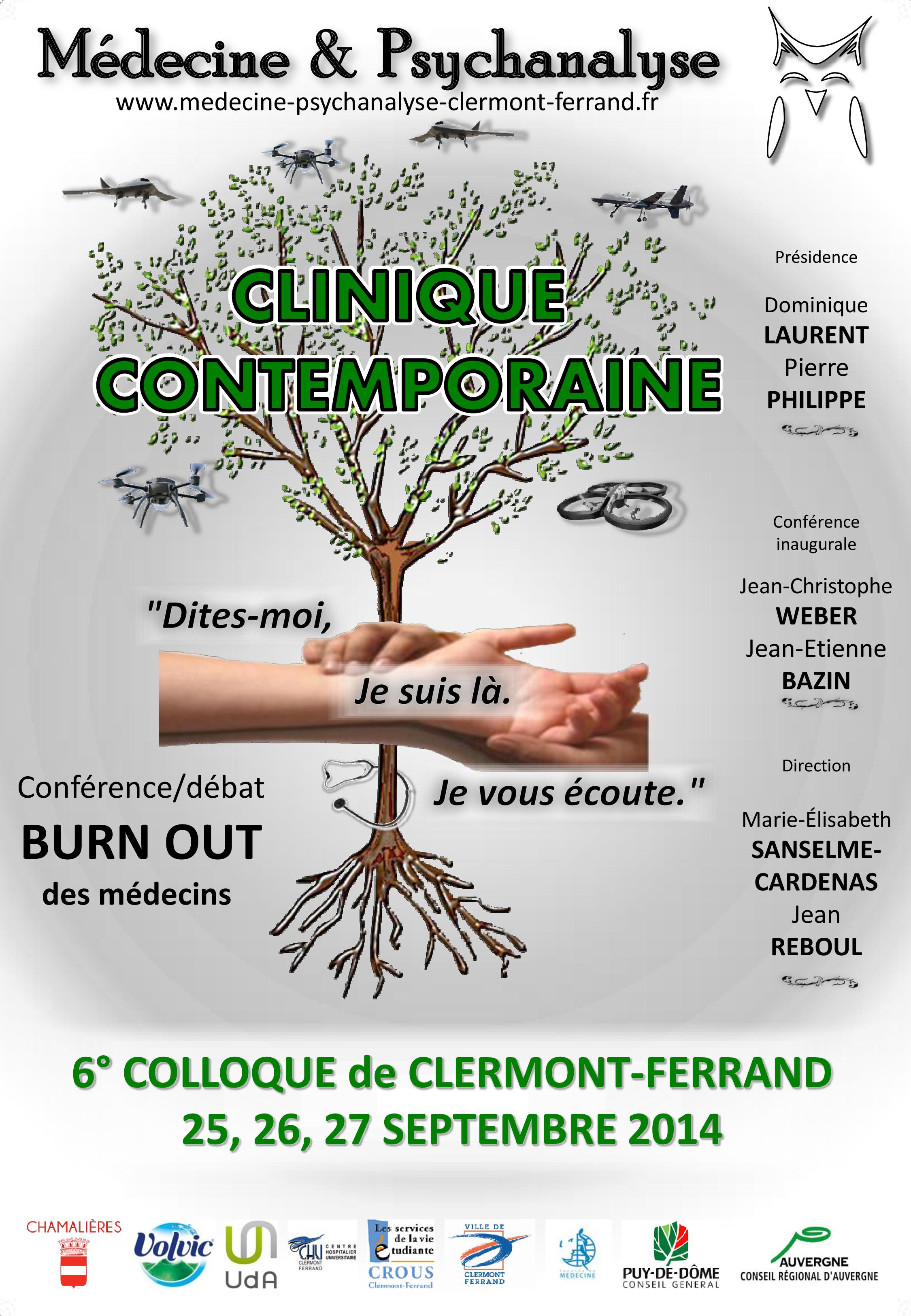 Affiche du 6ème colloque Médecine et Psychanalyse