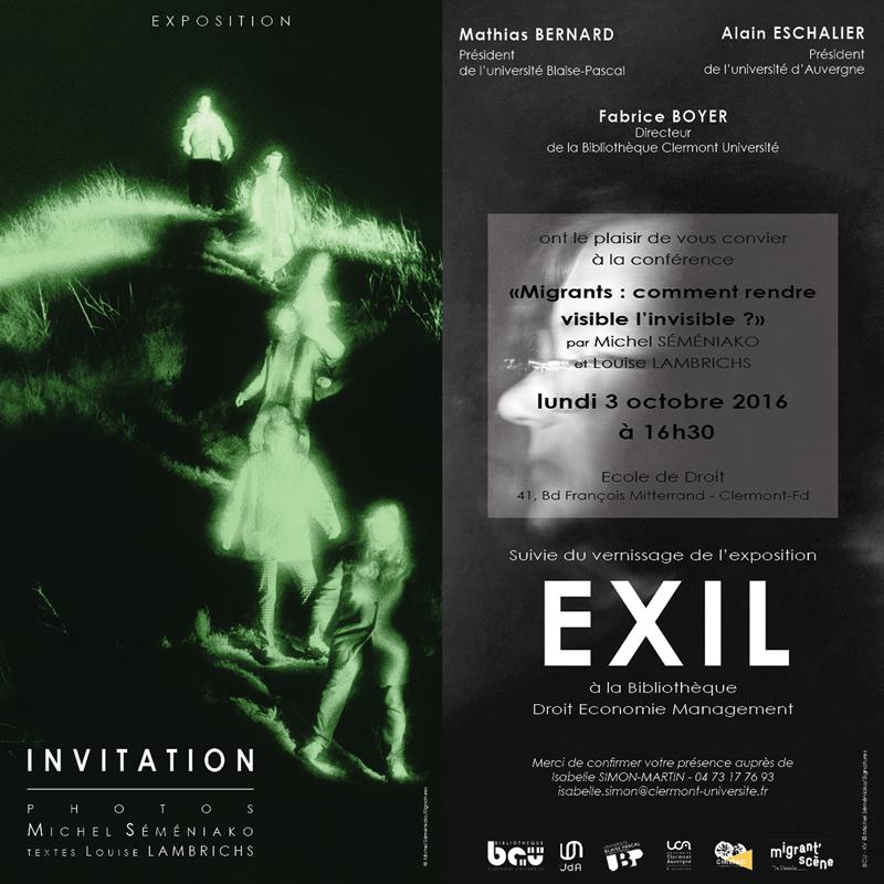 Exposition et conférence du 3 octobre 2016